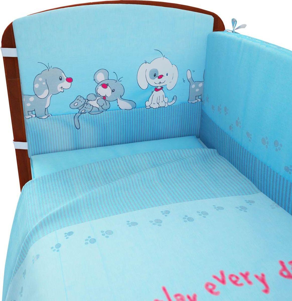 Фея Комплект белья для новорожденных Веселая игра цвет голубой 6 предметов комплект белья для новорожденных фея веселая игра цвет серый 6 предметов