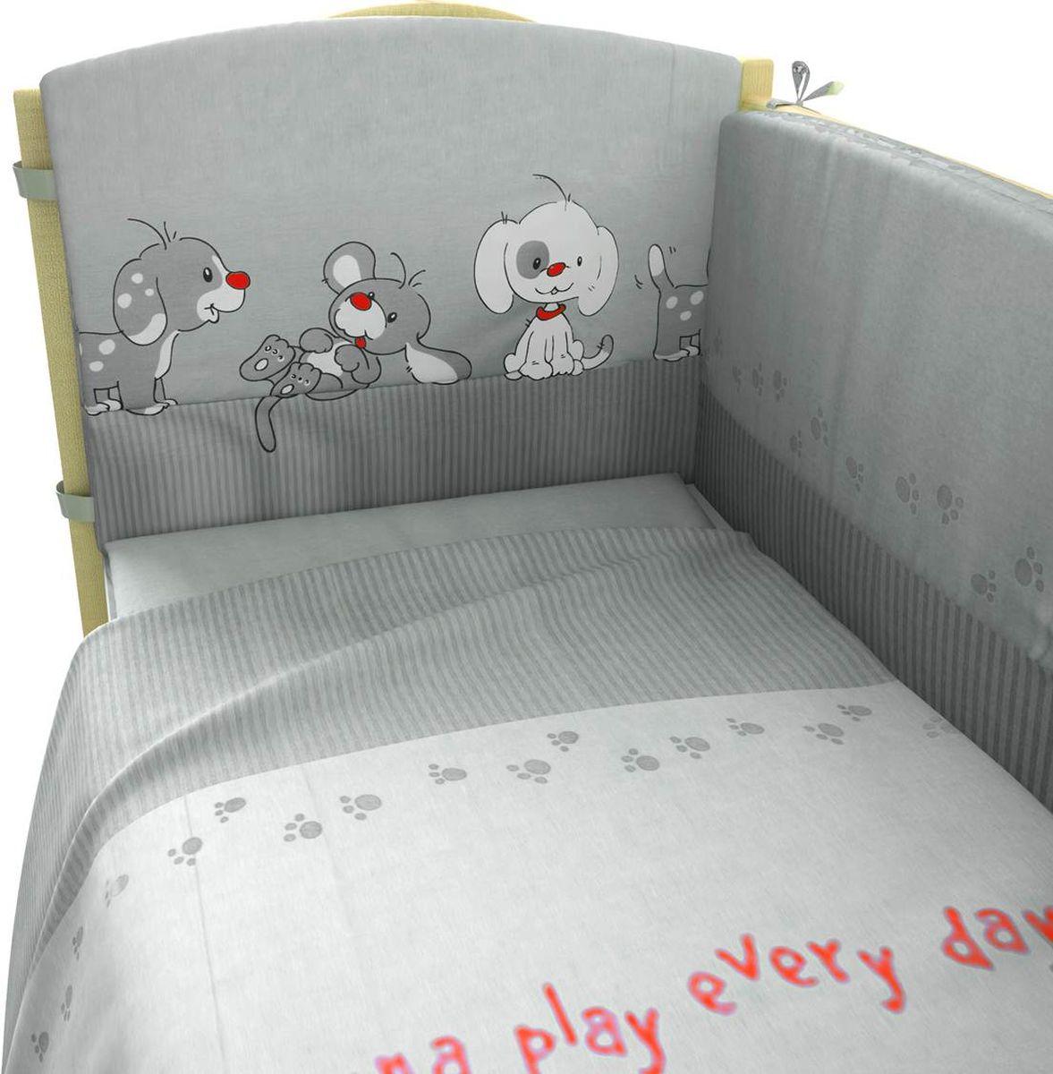 Комплект белья для новорожденных Фея Веселая игра, цвет: серый, 6 предметов комплект белья для новорожденных фея веселая игра цвет серый 6 предметов