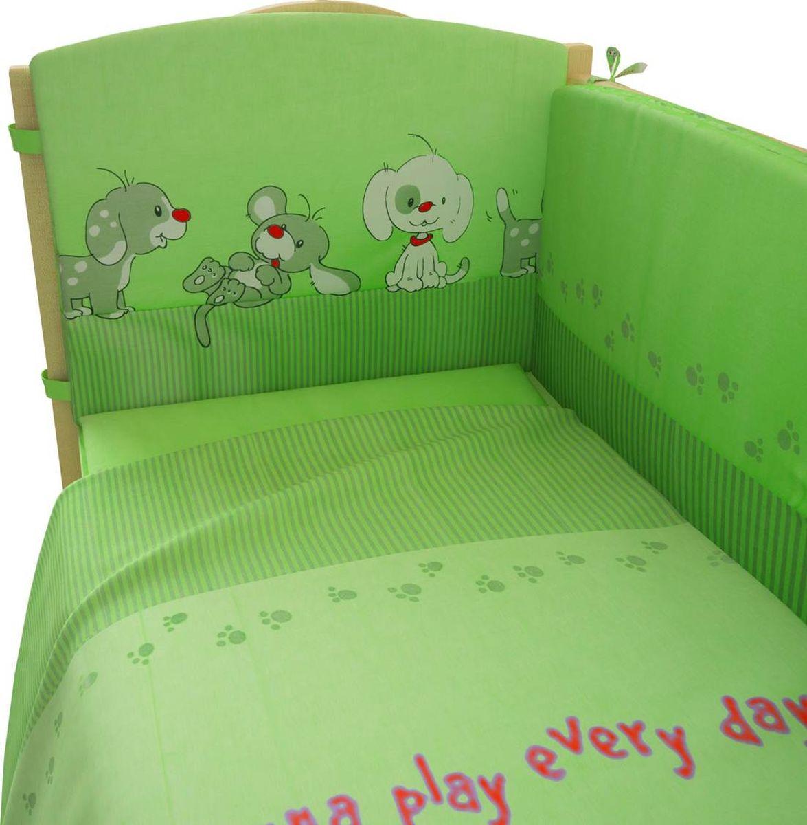 Фея Комплект белья для новорожденных Веселая игра цвет зеленый 6 предметов комплект белья для новорожденных фея веселая игра цвет серый 6 предметов
