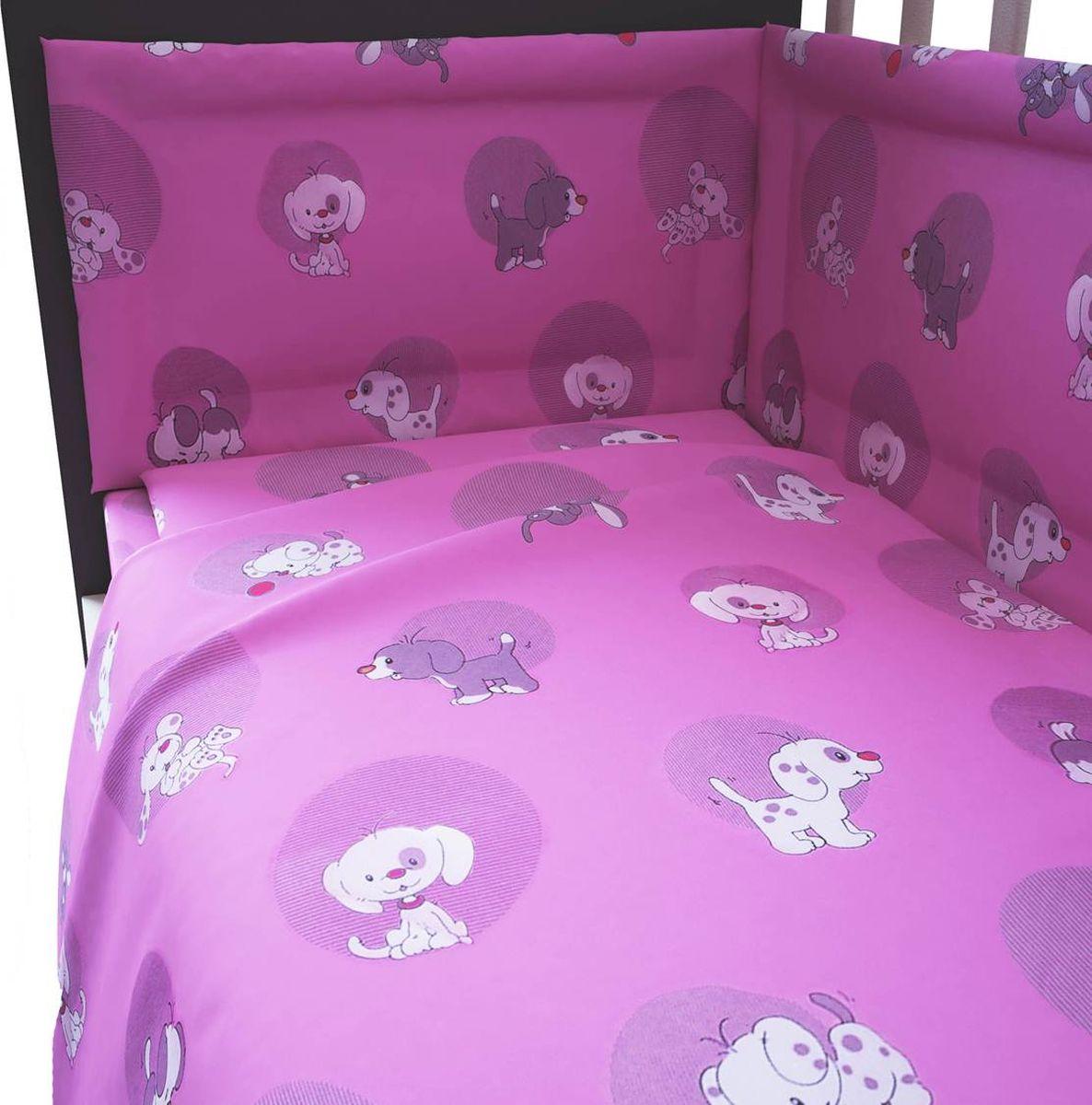 Комплект белья для новорожденных Фея Наши друзья, цвет: розовый, 6 предметов комплект белья для новорожденных фея веселая игра цвет серый 6 предметов