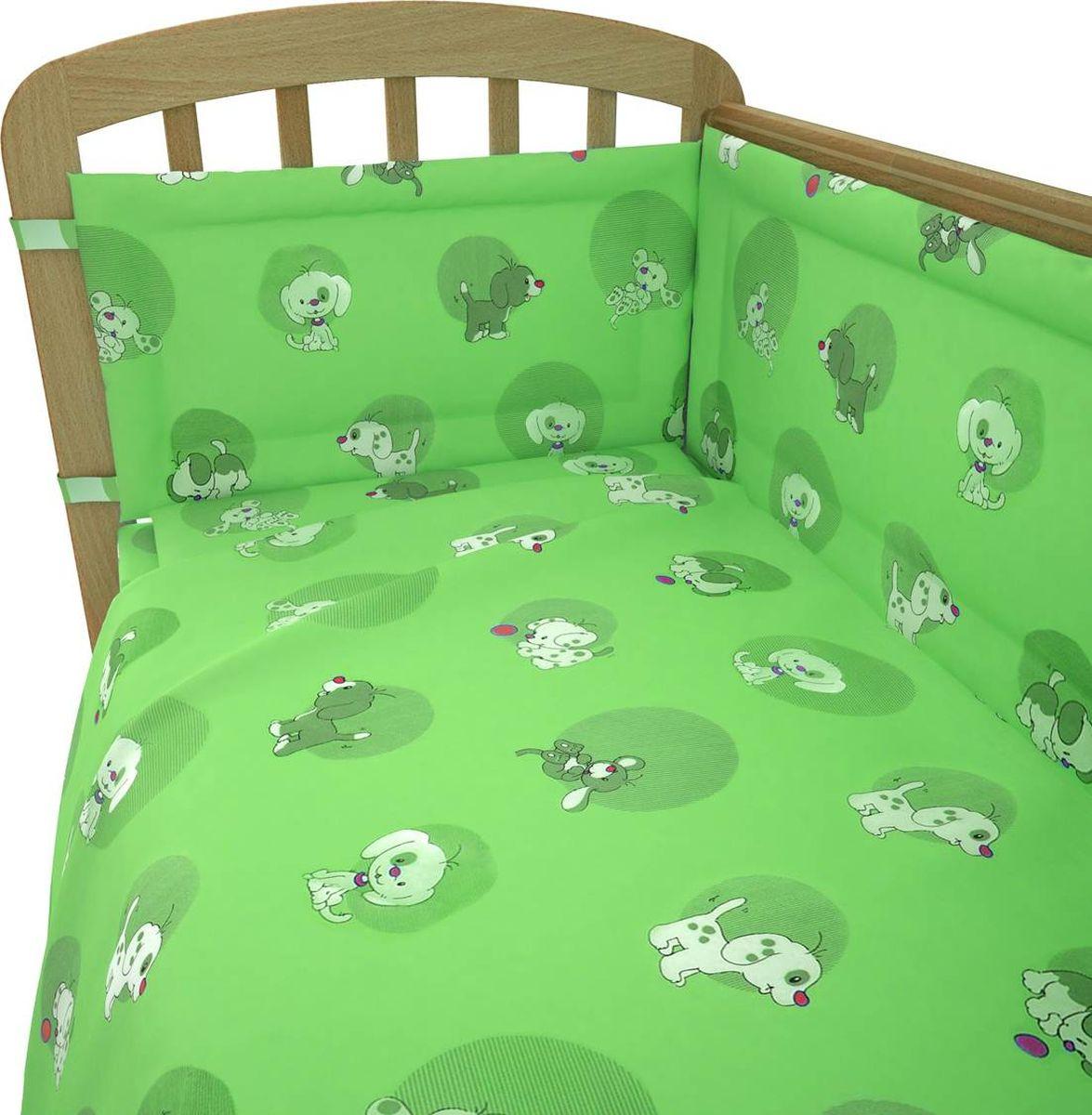 Фея Комплект белья для новорожденных Наши друзья цвет зеленый 6 предметов комплект белья для новорожденных фея веселая игра цвет серый 6 предметов