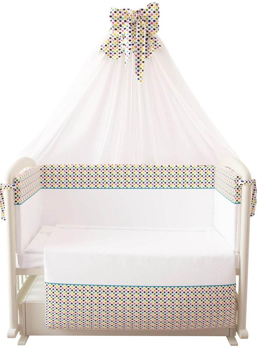 все цены на Фея Комплект белья для новорожденных Конфетти цвет белый 7 предметов онлайн