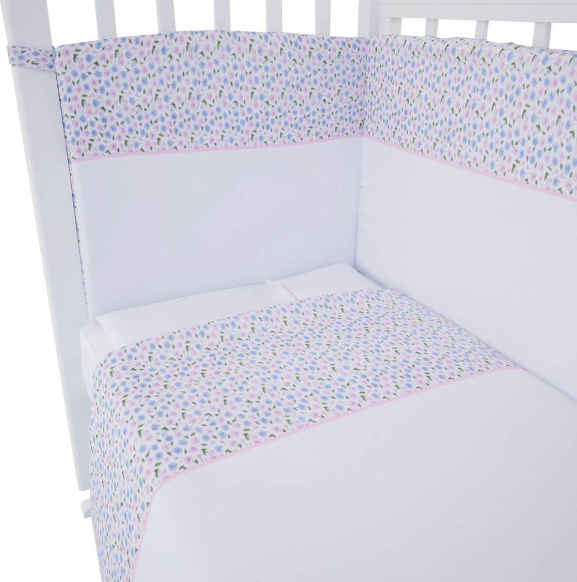 Комплект белья для новорожденных Фея Очарование, цвет: белый комплект в кроватку фея 0001015 1 голубой