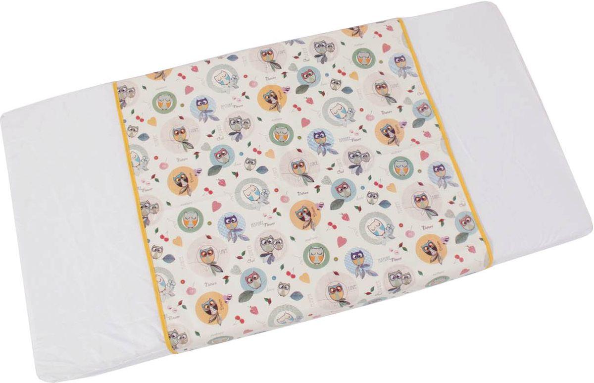 Фея Пеленка детская Совы цвет белый 68 х 100 см фея клеенка подкладная совы цвет белый голубой 48 х 68 см