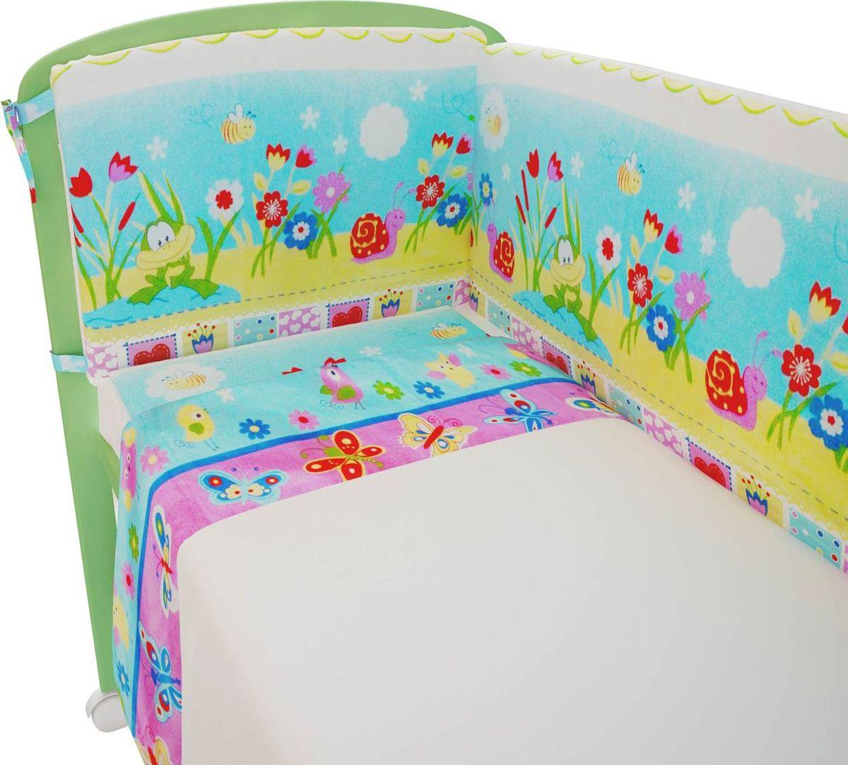 Фея Комплект белья для новорожденных Улыбка цвет белый комплект в кроватку фея 0001015 1 голубой