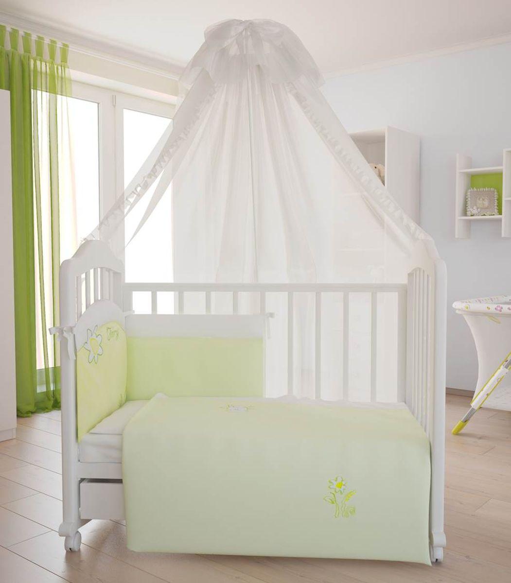 Комплект белья для новорожденных Fairy На лугу, цвет: белый, желтый, 7 предметов fairy комплект белья для новорожденных белые кудряшки цвет белый зеленый 7 предметов