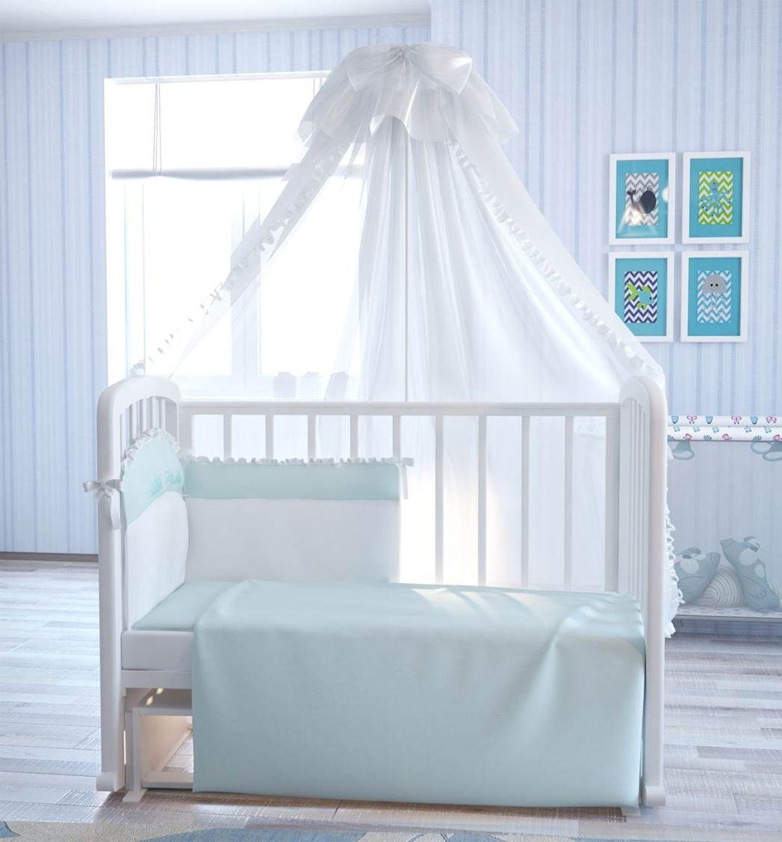 Fairy Комплект белья для новорожденных Сладкий сон цвет белый голубой 7 предметов