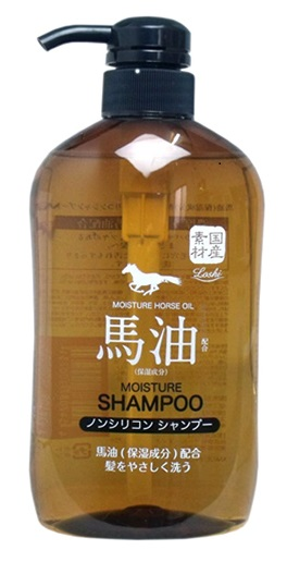 Loshi Шампунь для волос, без силикона, с содержанием конского жира, 600 мл