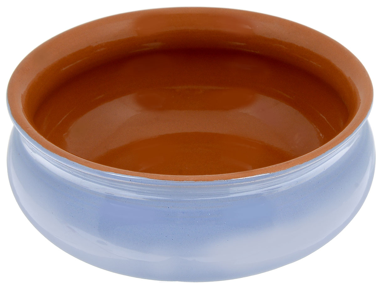 Тарелка глубокая Борисовская керамика Скифская, цвет: голубой, коричневый, 500 мл тарелка глубокая борисовская керамика скифская цвет оранжевый изумрудный 500 мл