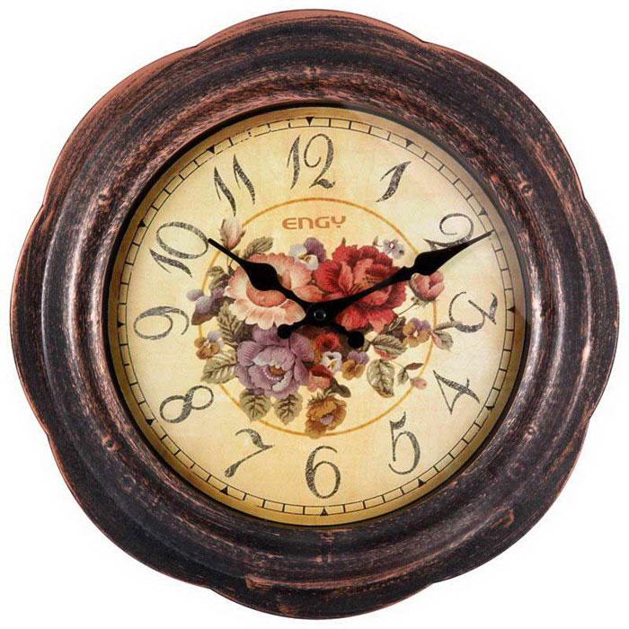 Engy ЕС-18, Brown Black настенные часы часы настенные engy d300мм