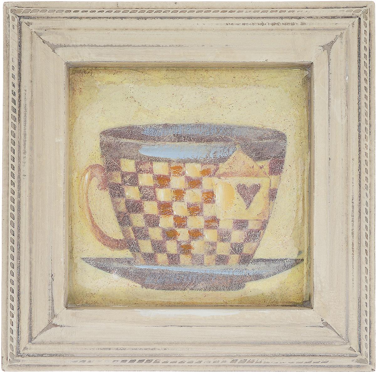 """Картина-репродукция Феникс-Презент """"Чашка чая"""", 23,5 х 23,5 х 2 см"""