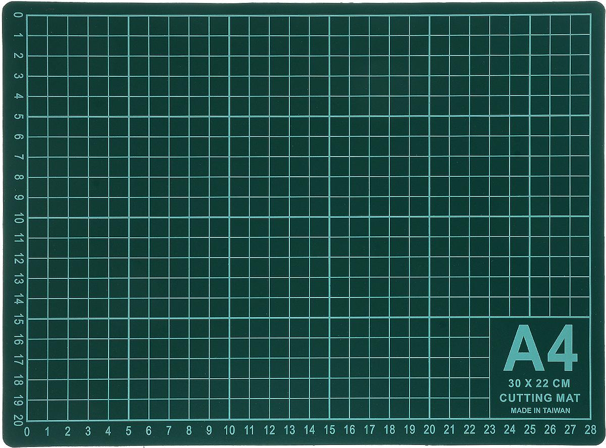 Мат для раскройного ножа Gamma, цвет: зеленый, 30 х 22 см мат для аппликаций hemline 30 х 31 см