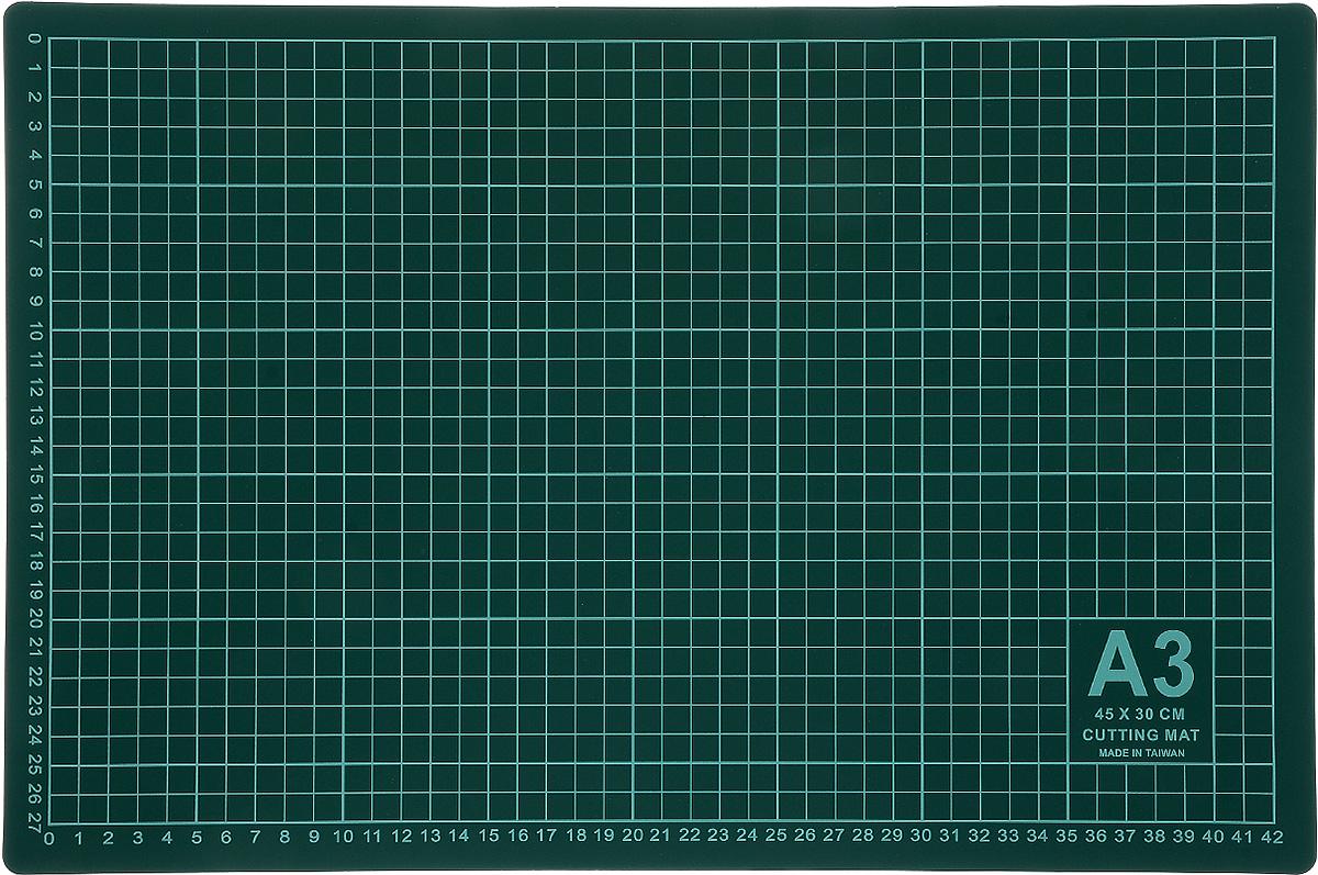 Мат для раскройного ножа Gamma, цвет: зеленый, 45 х 30 см мат для аппликаций hemline 30 х 31 см