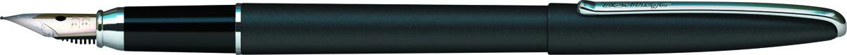 Berlingo Ручка перьевая Silk Prestige цвет корпуса черный серебристый