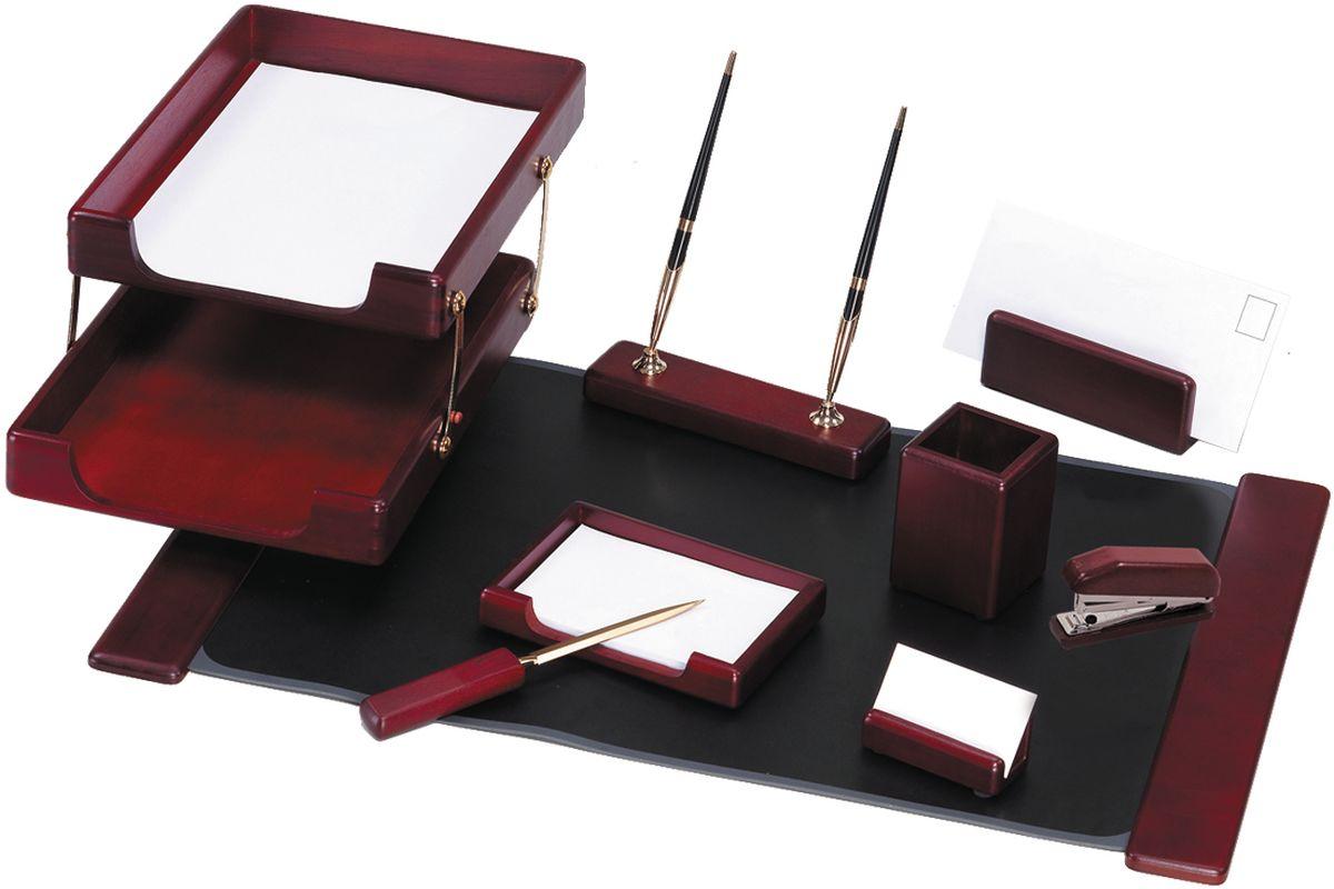 Delucci Канцелярский набор 9 предметов цвет красное дерево подставка для бумажного полотенца regent