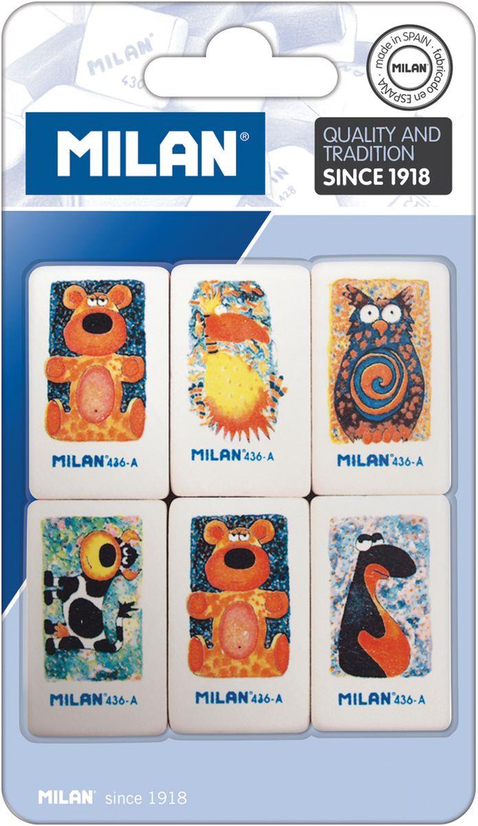 Milan Набор ластиков 436-А 6шт недорго, оригинальная цена