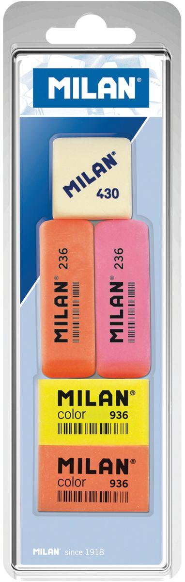 Milan Набор ластиков 236, Color 936 и 430 5шт все цены