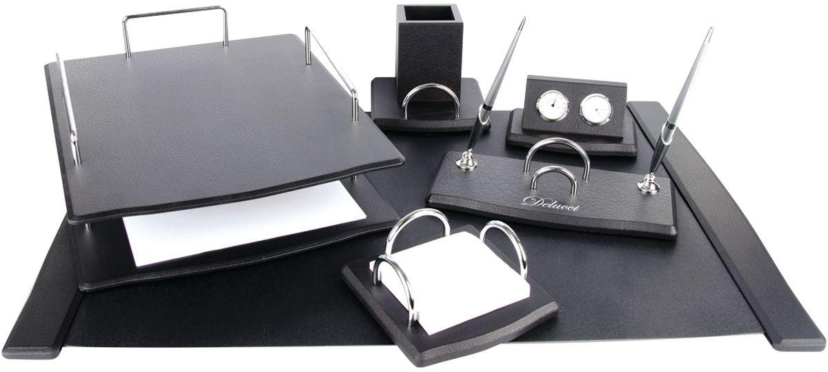 Delucci Канцелярский набор 6 предметов цвет черное дерево