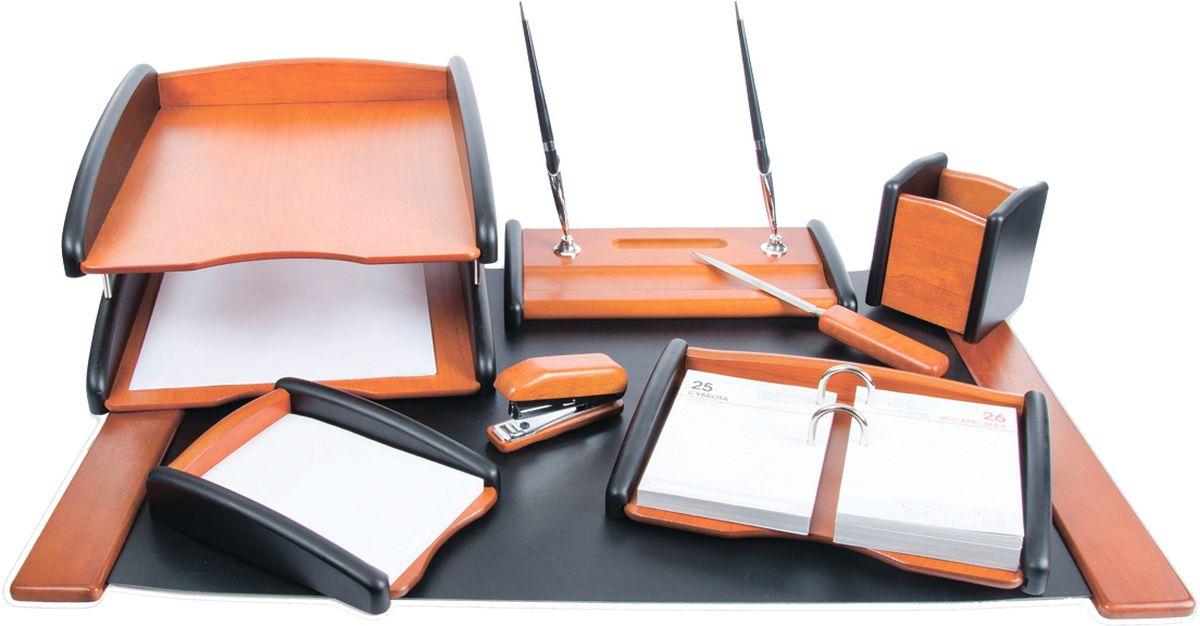 Delucci Канцелярский набор 8 предметов цвет черное дерево подставка для бумажного полотенца regent