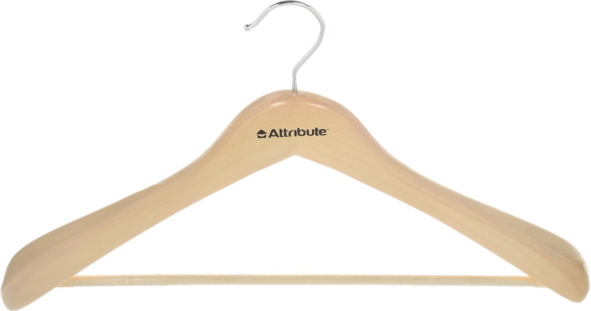 Вешалка для верхней одежды Attribute Hanger Classic, цвет: бежевый, длина 44 см цена