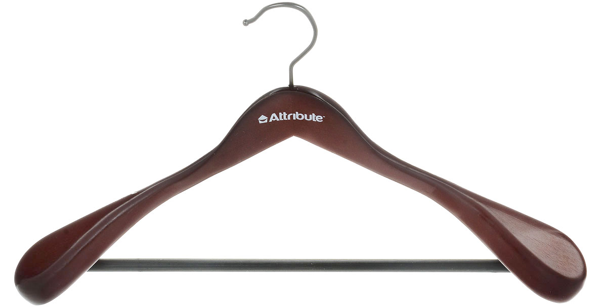 Вешалка для верхней одежды Attribute Hanger Redwood, цвет: красное дерево, длина 44 см цена