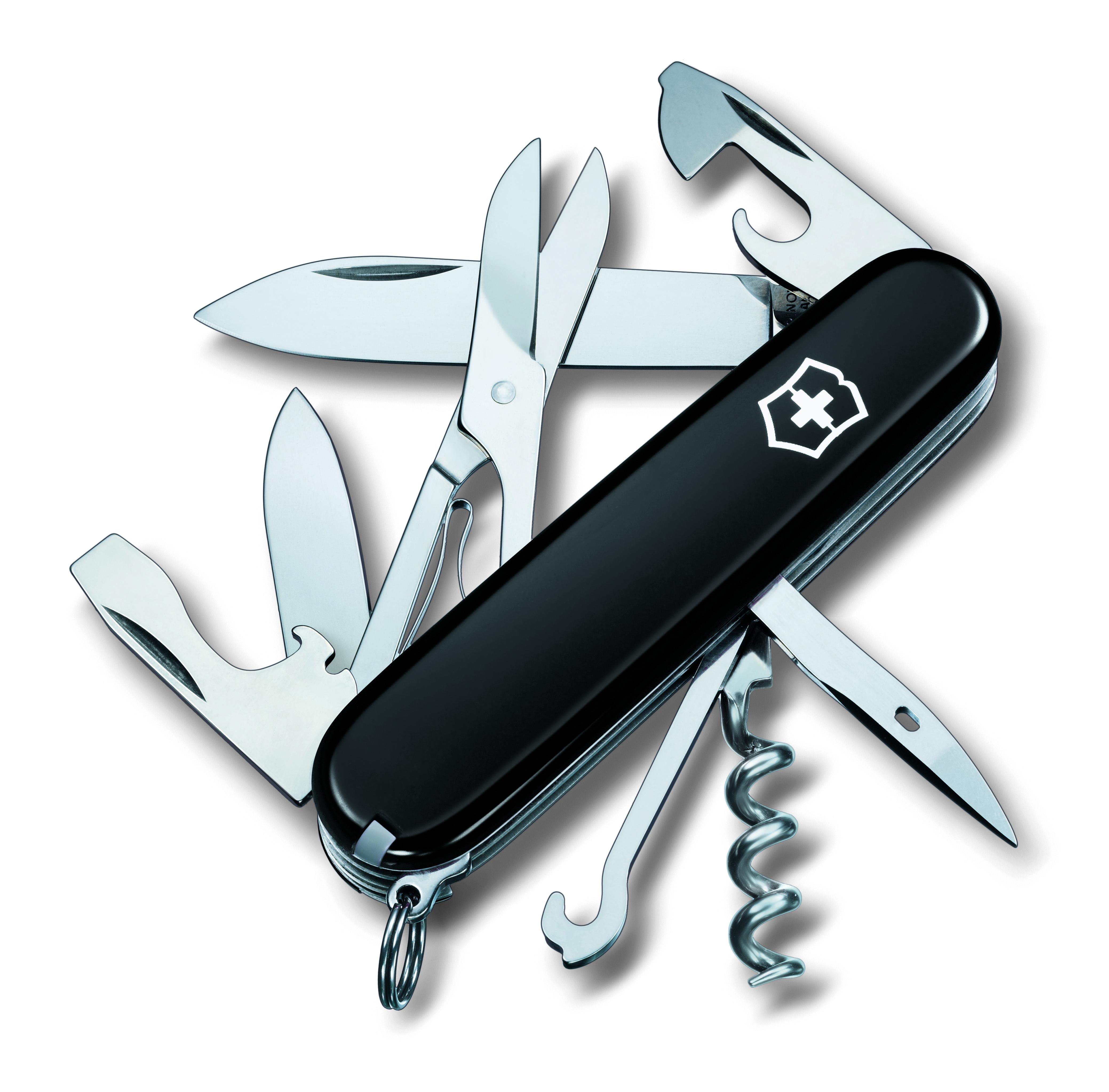 """Нож перочинный Victorinox """"Climber"""", 14 функций, цвет: черный, длина клинка 68 мм"""