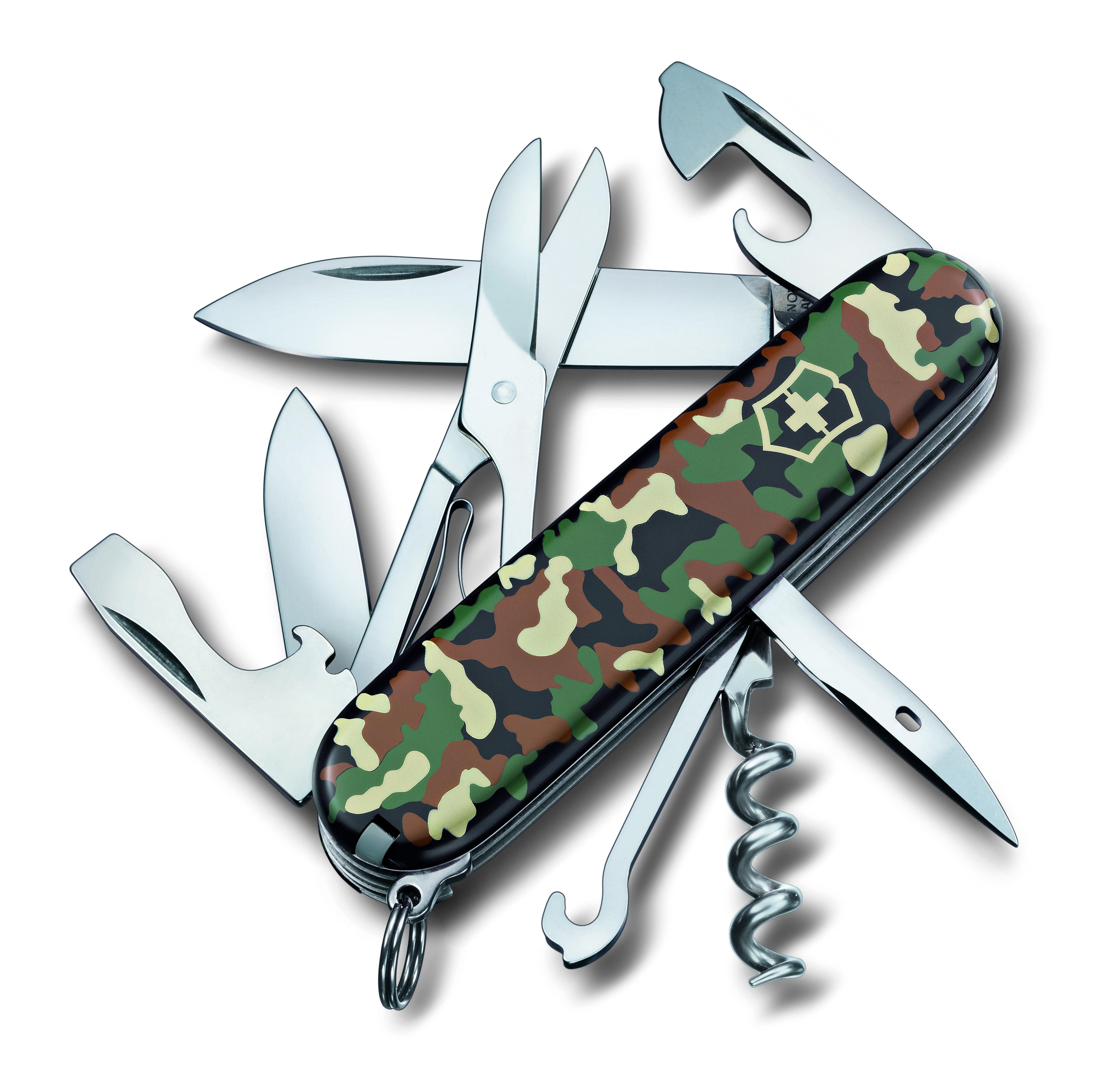 Нож перочинный Victorinox Climber, 14 функций, цвет: камуфляж, длина 9,1 см
