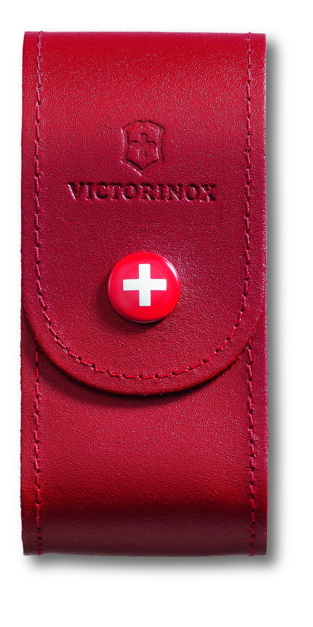 Чехол для ножей Victorinox, на ремень, цвет: красный, 10 см х 5 см