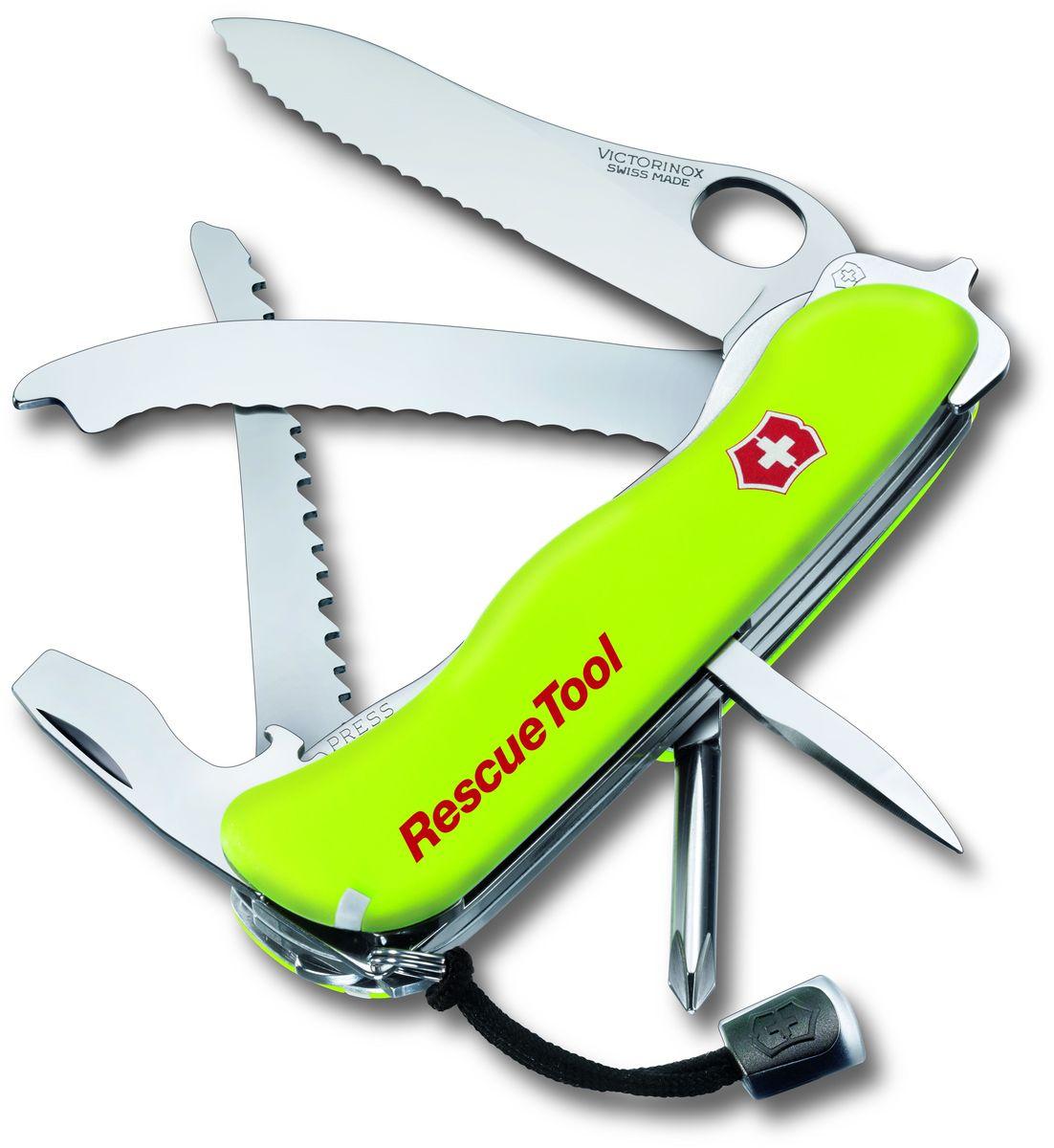 """Нож перочинный Victorinox """"Rescue Tool"""", 14 функций, с чехлом, длина 11,1 см"""