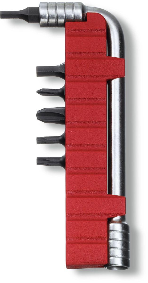 Ключ монтажный Victorinox, с 6 насадками, цвет: серый металлик монтажный ключ victorinox 11 см с насадками