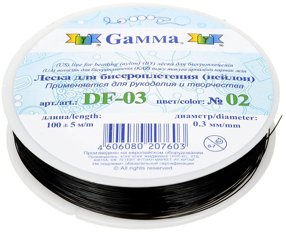 """Леска для бисероплетения """"Gamma"""", цвет: черный, диаметр 0,3 мм, 100 м"""