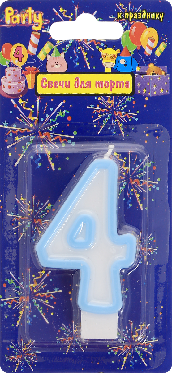 Action! Свеча-цифра для торта 4 года цвет голубой action свеча цифра для торта 4 года цвет салатовый