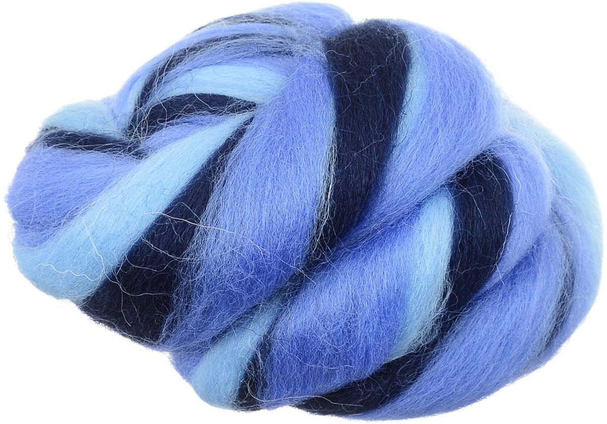 Шерсть для валяния Gamma, цвет: голубой, темно-синий, синий (6083), 50 гMY-050Шерсть для валяния Gamma, изготовленная из 100% мериносовой шерсти, идеально подходит для сухого и мокрого валяния. Шерсть Gamma не линяет при валянии и последующей стирке, легко расчесывается и разделяется на пряди. Готовые изделия из натуральной шерсти Gamma хорошо поддаются покраске и тонированию. Валяние шерсти - это особая техника рукоделия, в процессе которой из шерсти для валяния создается рисунок на ткани или войлоке, объемные игрушки, панно, декоративные элементы, предметы одежды или аксессуары. Только натуральная шерсть обладает способностью сваливаться или свойлачиваться. В одной упаковке сочетание 3-х цветов.