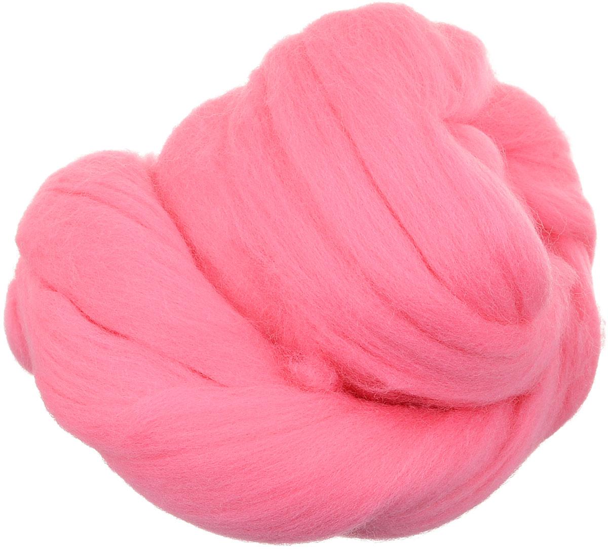 Шерсть для валяния Gamma, цвет: розовый (0160), 50 г шерсть для валяния астра тонкая цвет розовый 0160 100 г