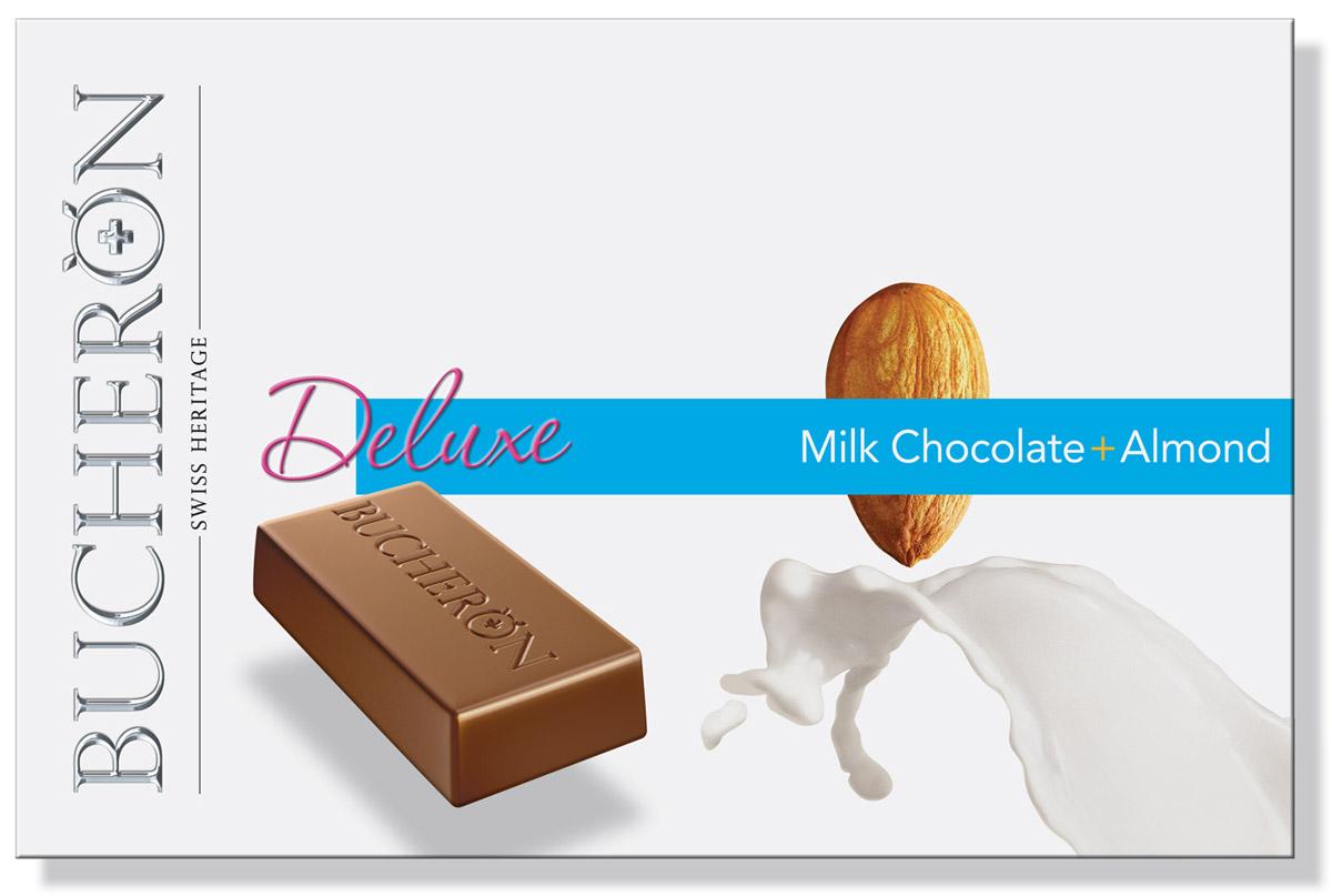 Bucheron Deluxe молочный шоколад с миндалем, 95 г платок 95 95 см 100platkov цвет молочный