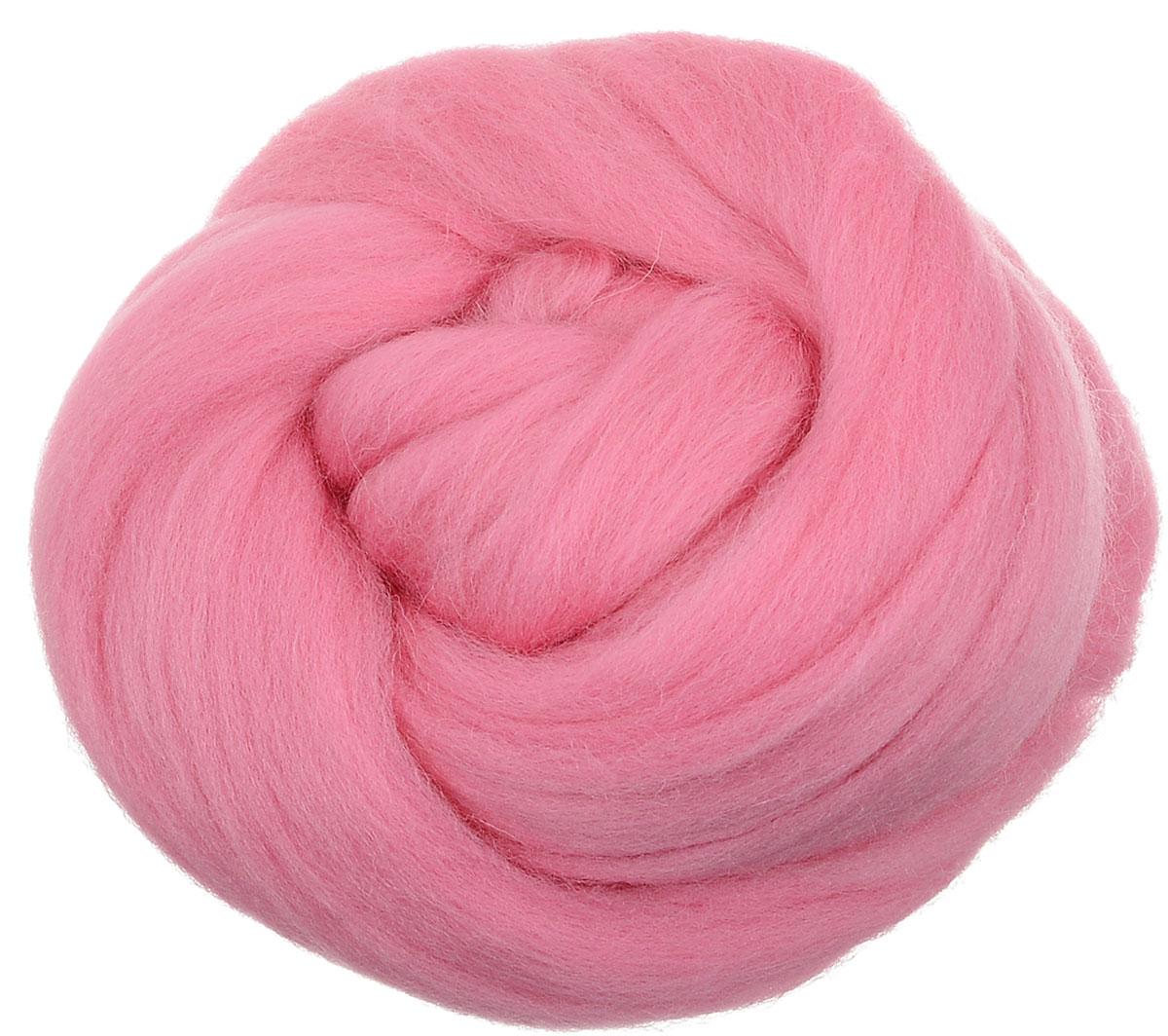 Шерсть для валяния Gamma, полутонкая, цвет: розовый (0160), 50 г шерсть для валяния астра тонкая цвет розовый 0160 100 г