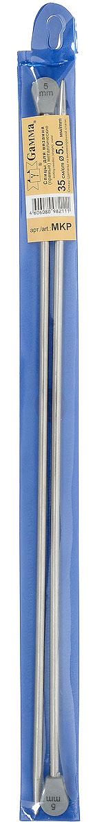 Фото - Спицы Gamma, металлические, прямые, диаметр 5 мм, длина 35 см, 2 шт спицы прямые gamma металлические диаметр 5 мм длина 20 см 5 шт