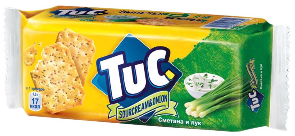 Tuc Крекер со вкусом сметаны и лука, 100 г цена