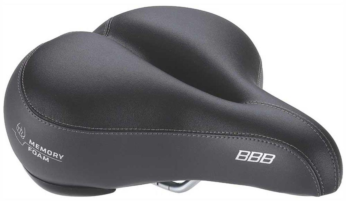 цена на Седло велосипедное BBB SoftShape Memory Foam Anatomic, цвет: черный