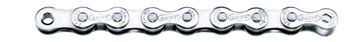 цена на Цепь велосипедная BBB SingleLine Single Speed CP, цвет: серебристый, 114 звеньев
