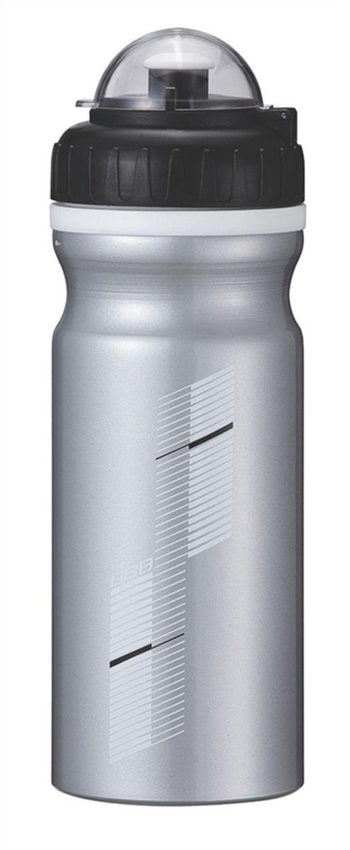 """Бутылка для воды BBB """"AluTank"""", велосипедная, цвет: серебристый, черный, 680 мл"""