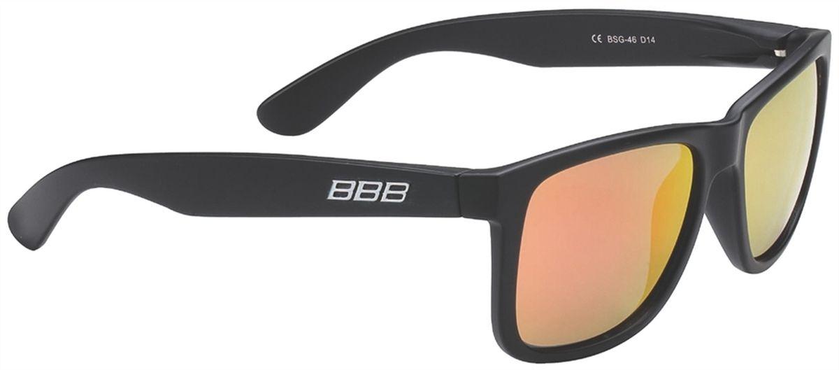 Очки солнцезащитные BBB Street PZ PC MLC Red Polarised Lenses, цвет: черный bbb attacker red bsg 29