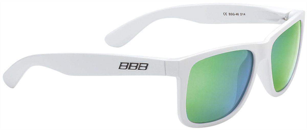 цена на Очки солнцезащитные BBB Street PZ PC MLC Polarised Lenses, цвет: белый, зеленый
