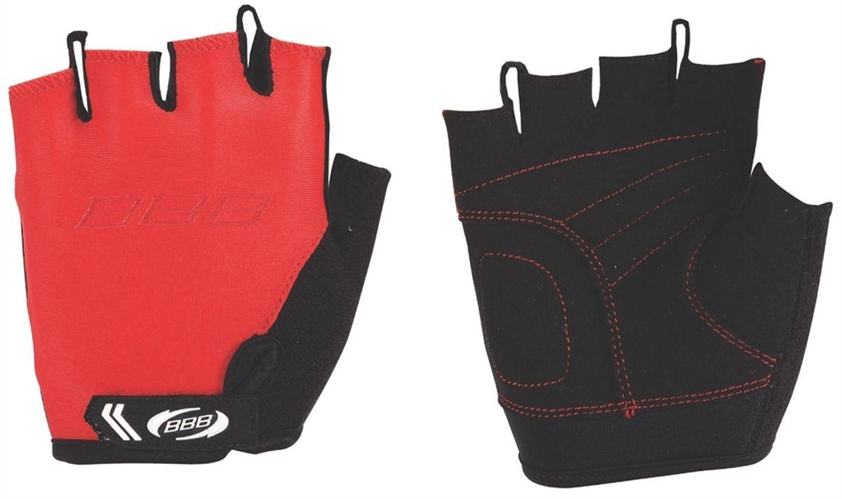 """Перчатки детские велосипедные BBB """"Kids"""", цвет: красный, черный. BBW-45. Размер L"""