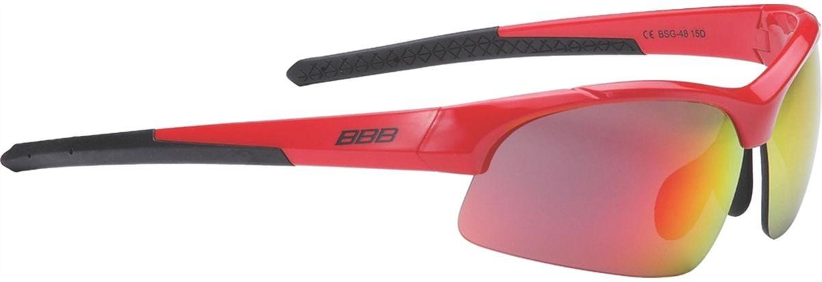 Очки солнцезащитные BBB Impress Small PC Smoke Red Lenses, цвет: красный, черный retro style polarized sunglasses with sand black frame and red lenses