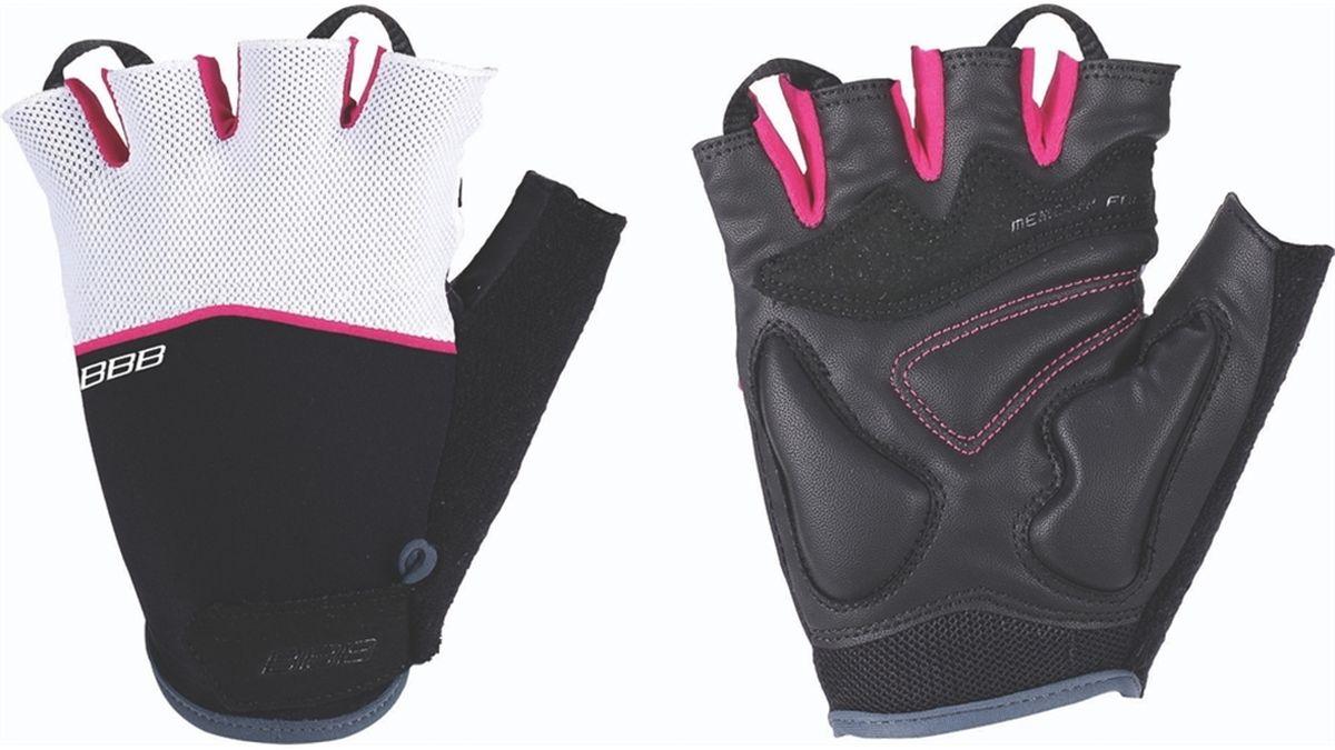 """Перчатки велосипедные BBB """"Omnium"""", цвет: фуксия, белый, черный. BBW-47. Размер L"""