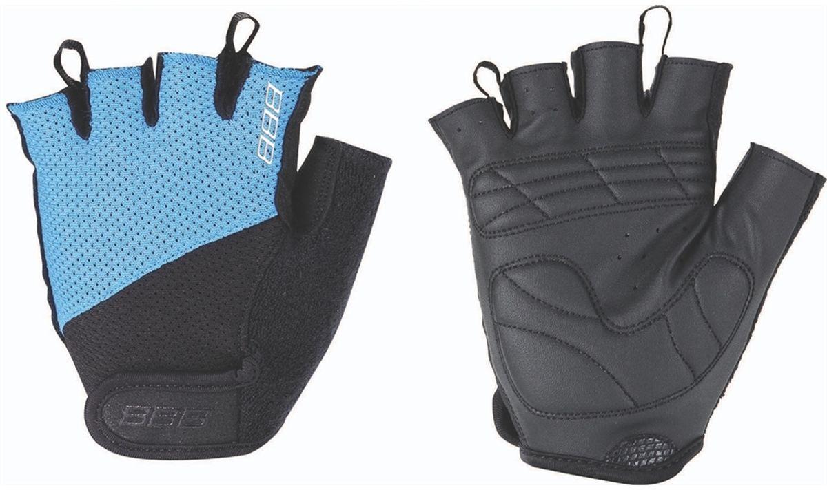 Перчатки велосипедные BBB Chase, цвет: черный, синий. BBW-49. Размер L