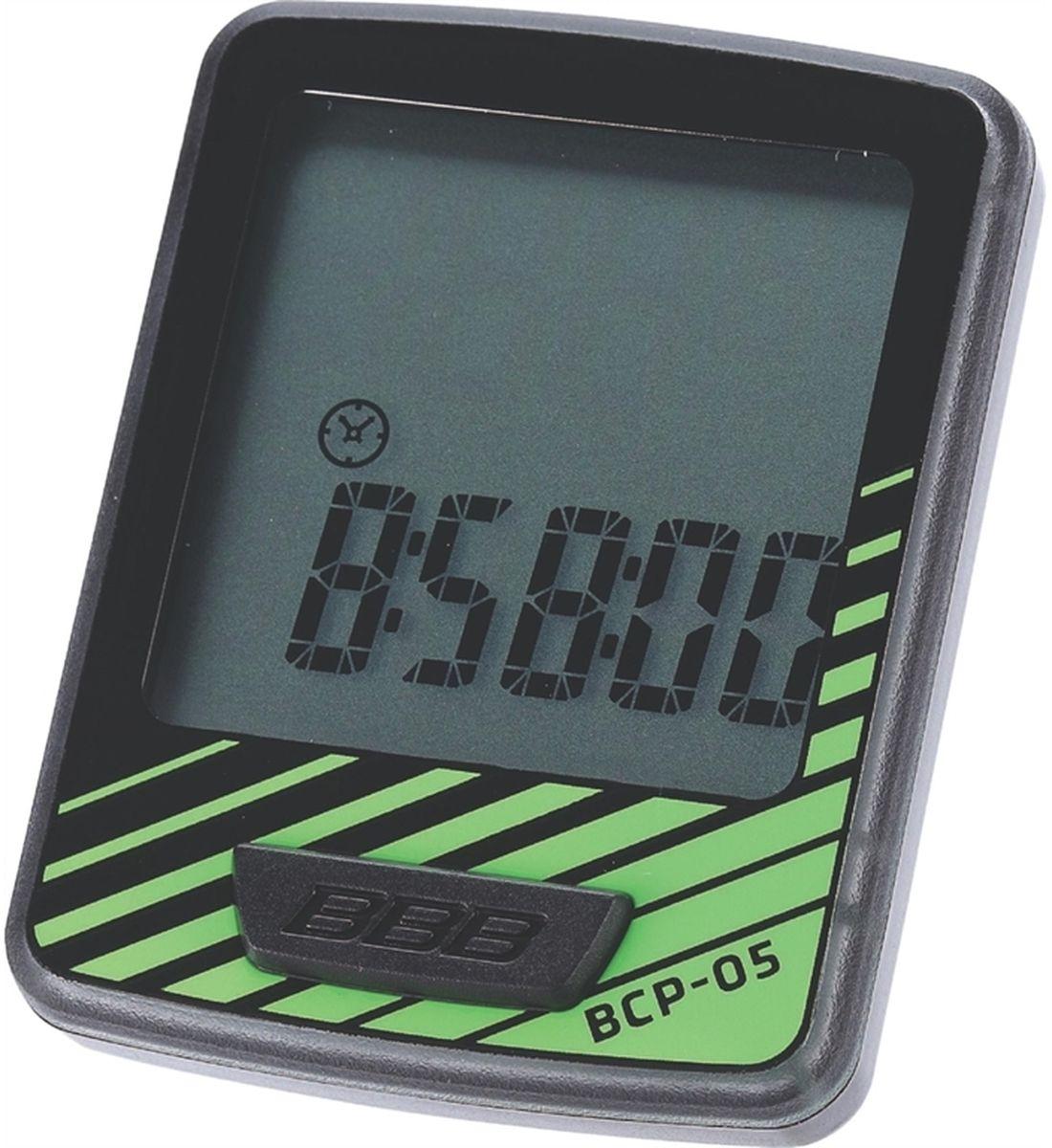 Велокомпьютер BBB DashBoard, цвет: черный, зеленый, 7 функций
