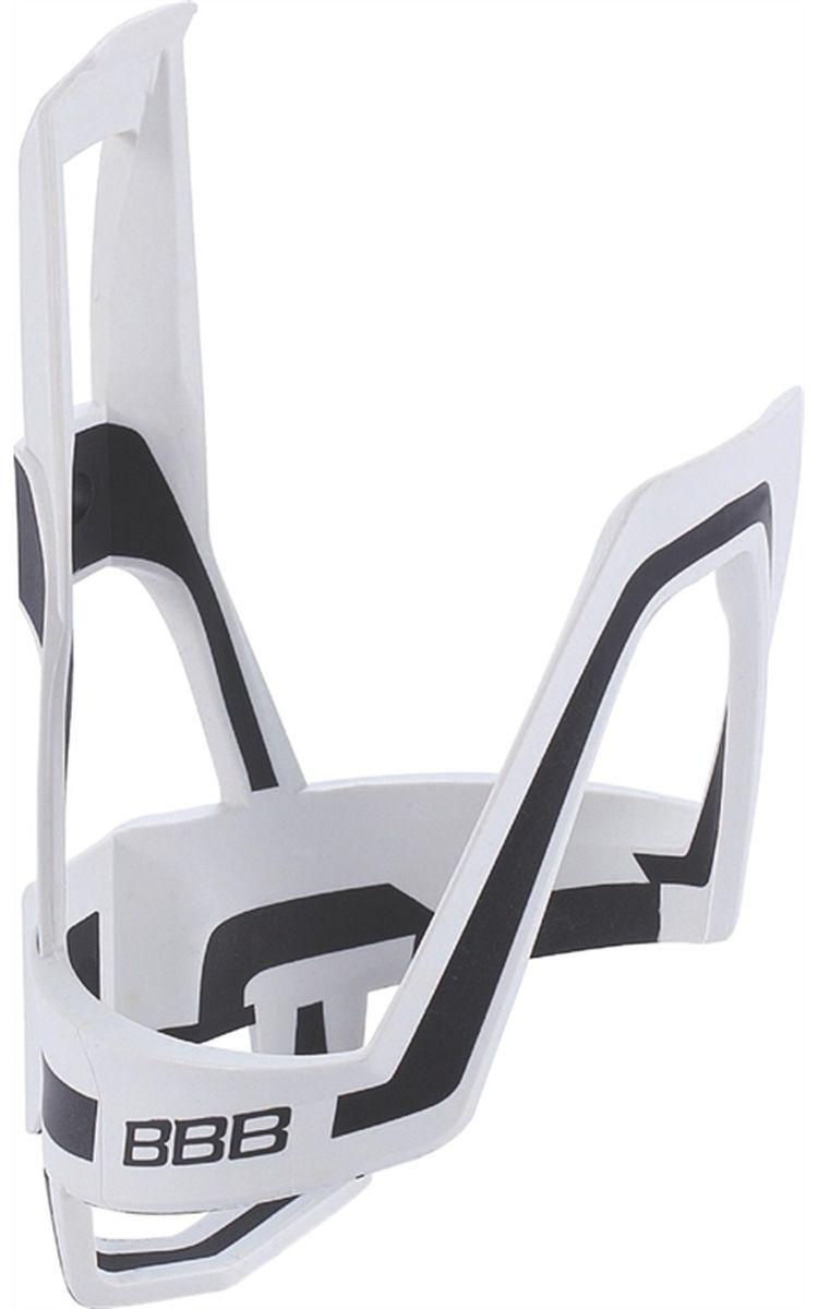 Фото - Флягодержатель велосипедный BBB DualCage, цвет: белый, черный флягодержатель велосипедный kellys bullet алюминий вес 26г белый