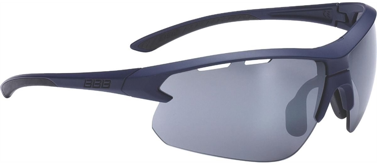 Очки солнцезащитные BBB Impulse Black Rubber Temple Tips PC, цвет: темно-синий